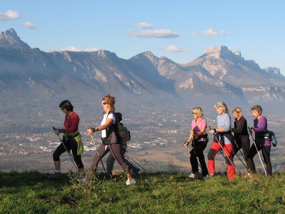 nordic walking au-dessus de Grenoble